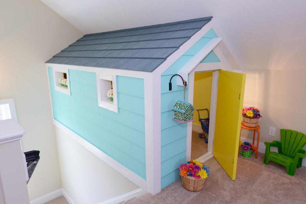 Детские площадки из дерева с домиком купить