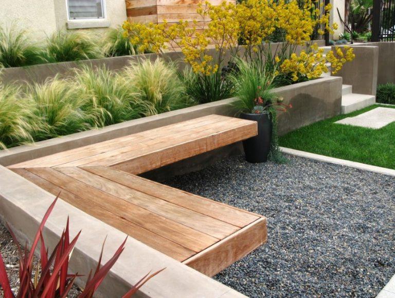 Скамейка в ландшафтном дизайне