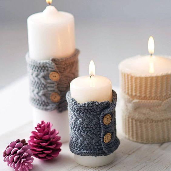 Украшаем свечи своими руками фото 695