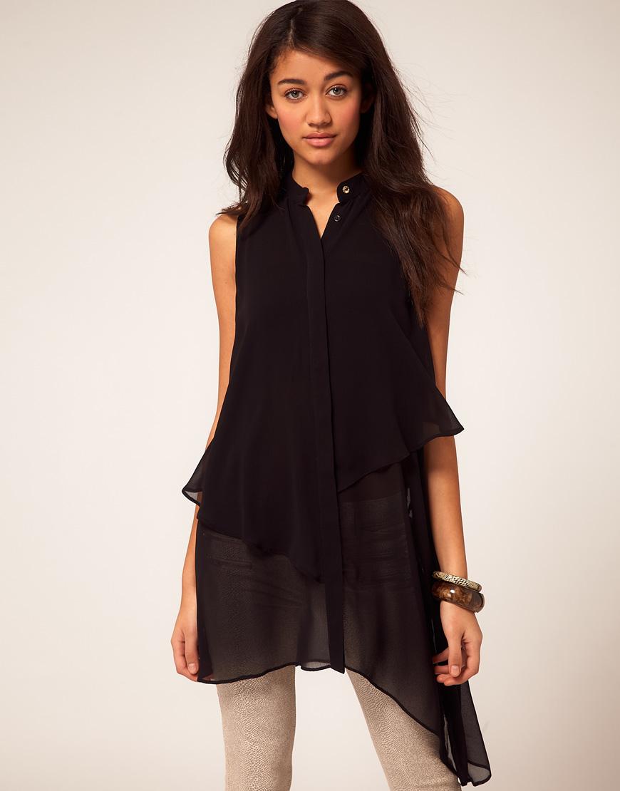 Длинная блузка платье