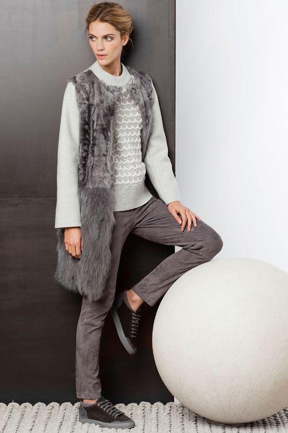 Модные меховые жилеты 2018 | фото