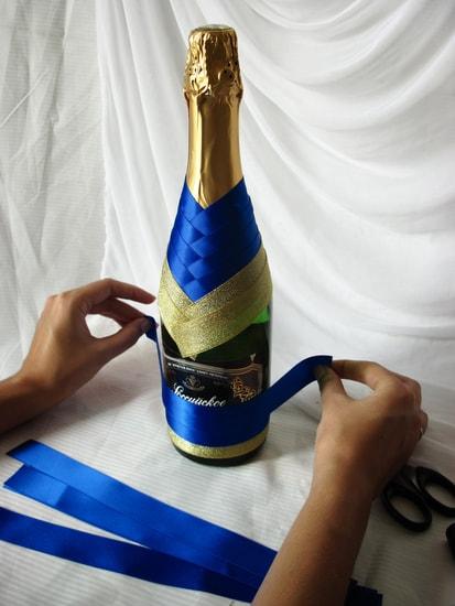 Украсить шампанское на день рождения своими руками 13