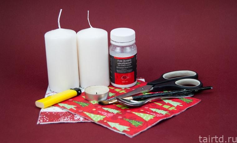 Как оформить свечу своими руками на новый год