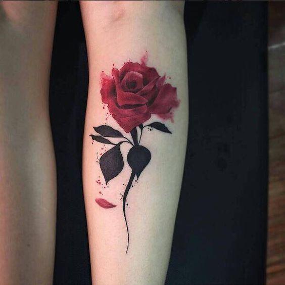 обозначение тату просто роза концы пружинного фиксатора
