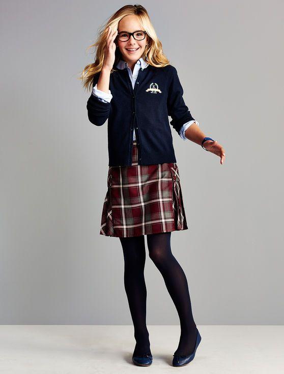 Модная школьная одежда для девочек