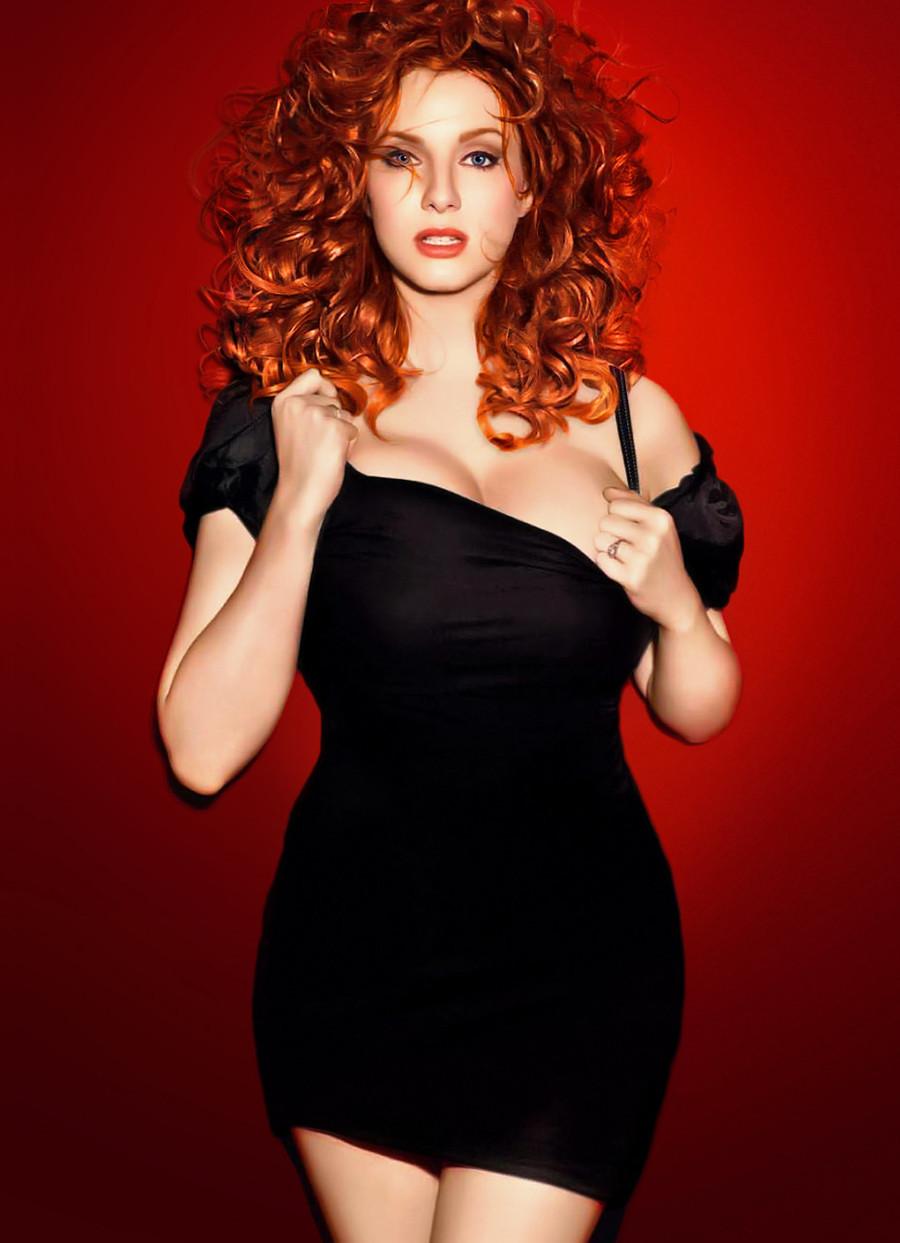 Рыжая толстая девушка фото