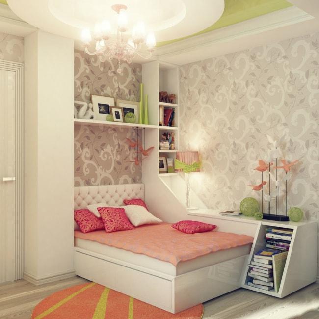 Ремонт в спальне для девочки с