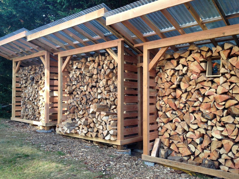 Как сделать поленницу для дров 7