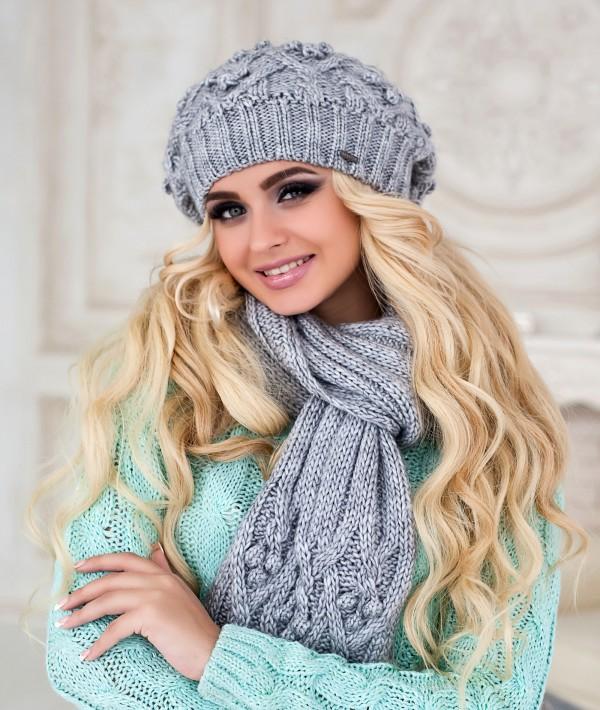 Модели для вязания женских шапок шарфов и беретов