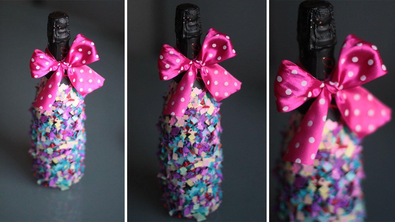 Украшения бутылки от шампанского своими руками