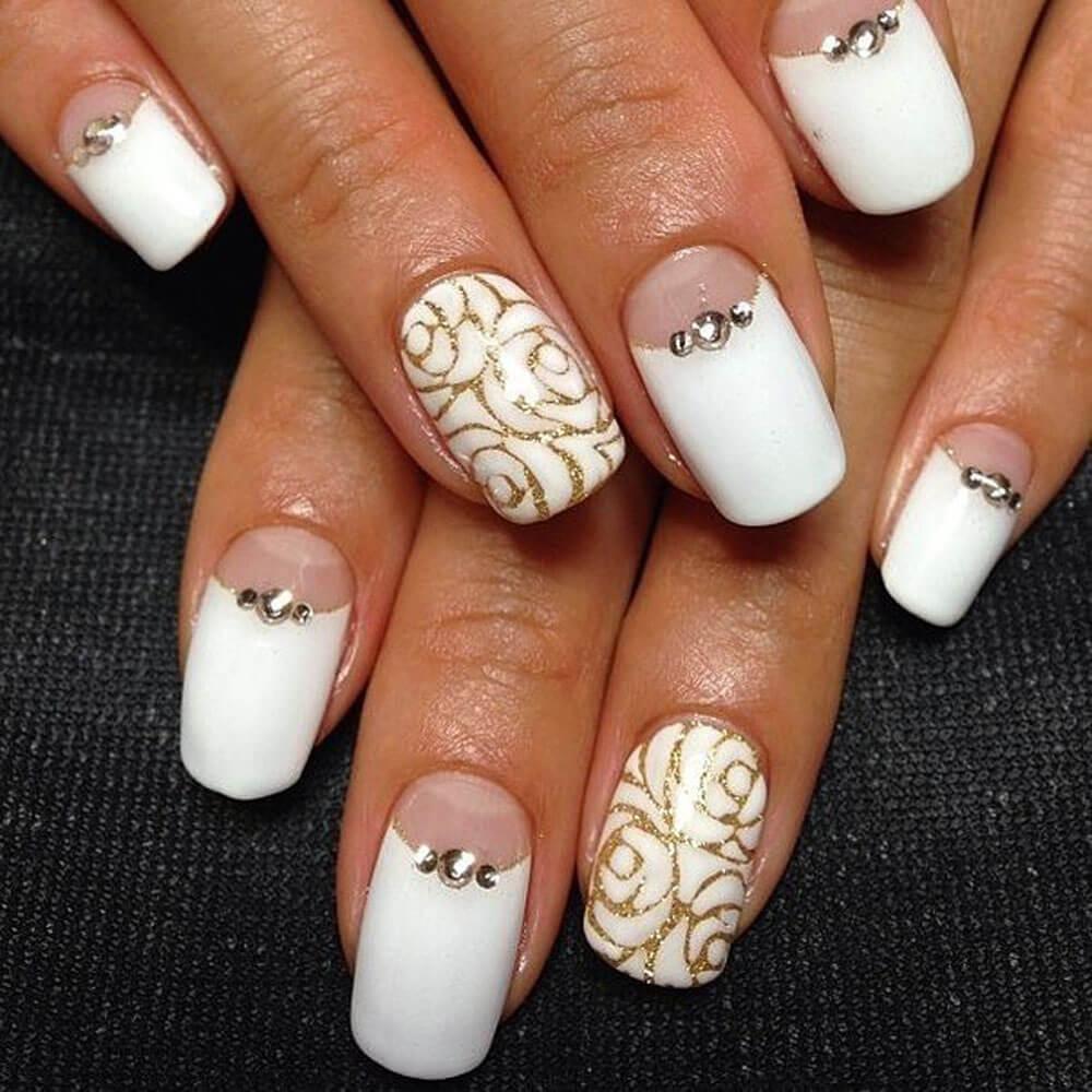 Свадебный шеллак фото дизайн ногтей короткие