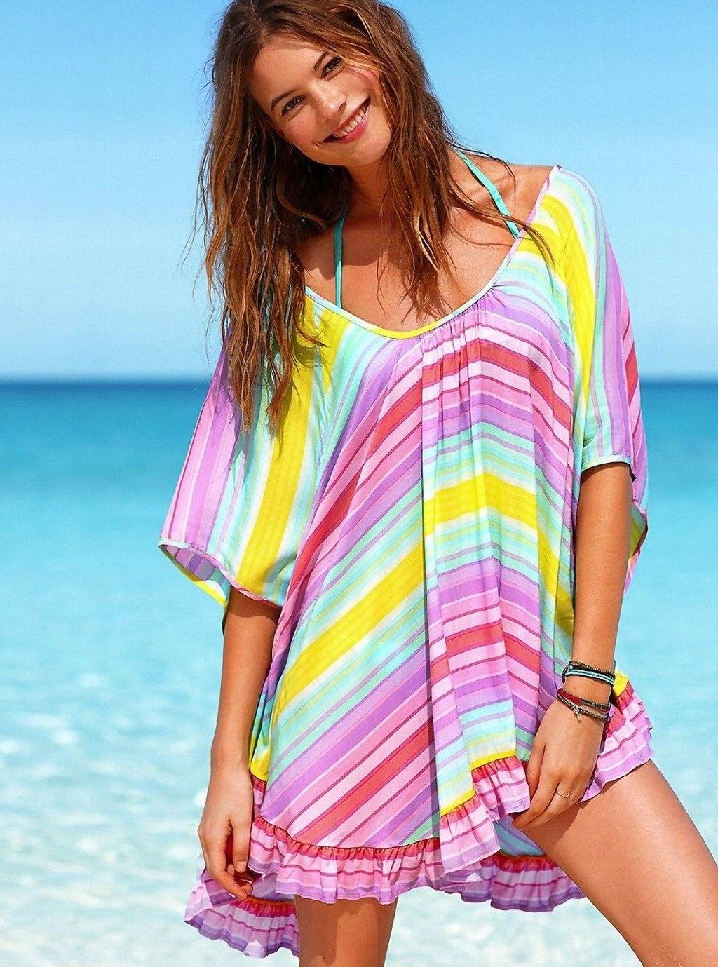 Пляжные платья и туники фото 2018 сшить
