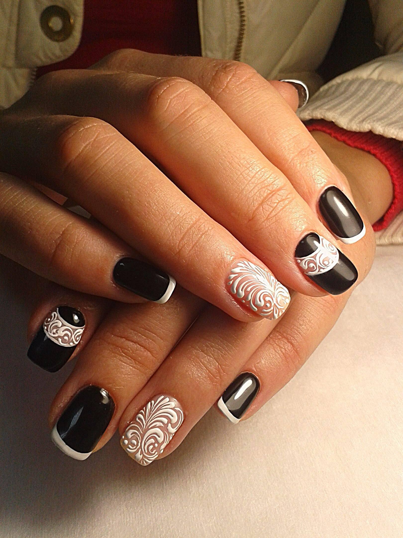 Дизайн белых ногтей гель лак новинки