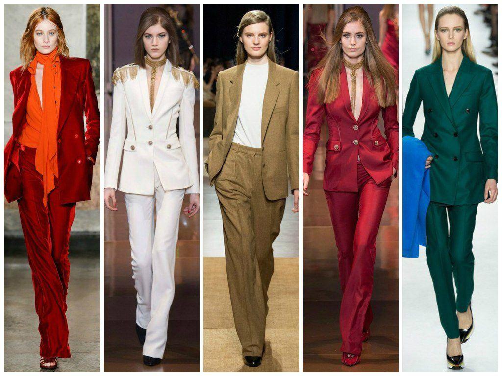 Брючные костюмы для женщин модные тенденции