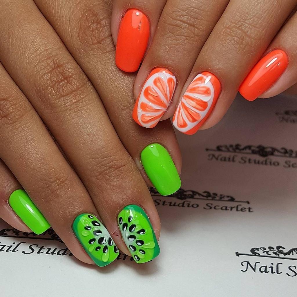 Дизайн ногтей фрукты фото новинки