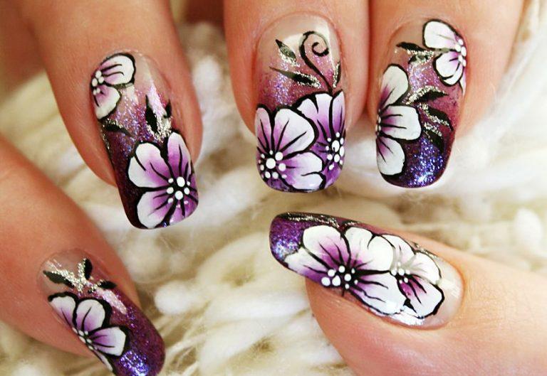 Красивый маникюр рисунки цветы