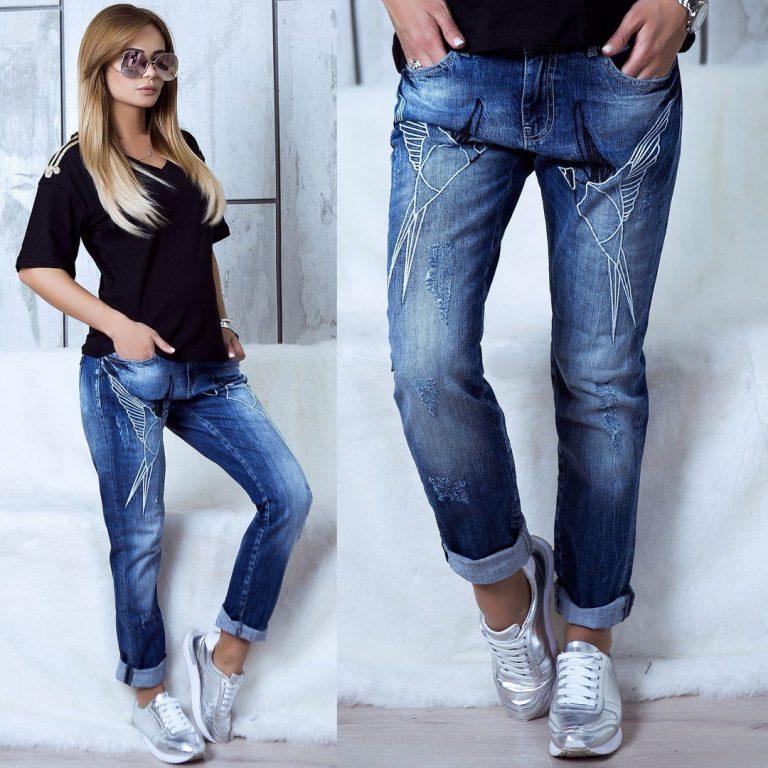 Вышивка на джинсах 2018 год