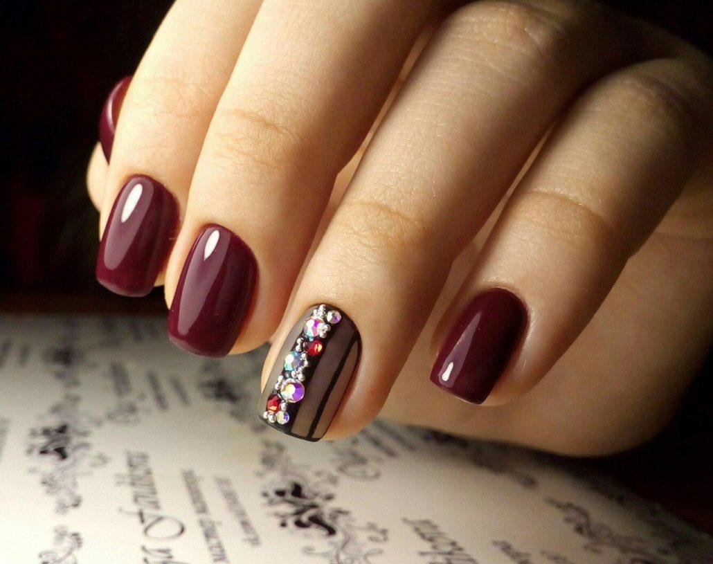 Модный маникюр на короткие ногти шеллак