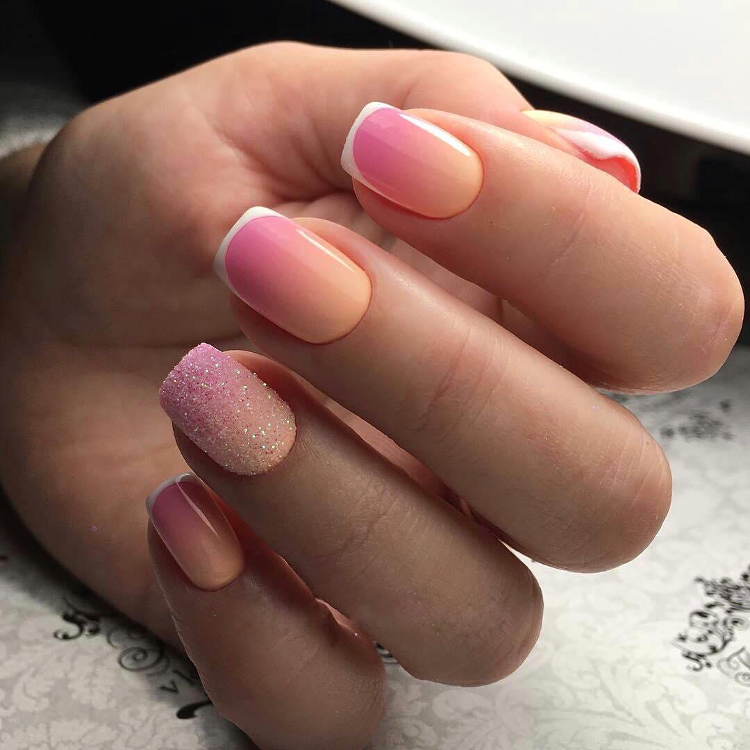 Маникюр на короткие ногти фото дизайн 2018 френч