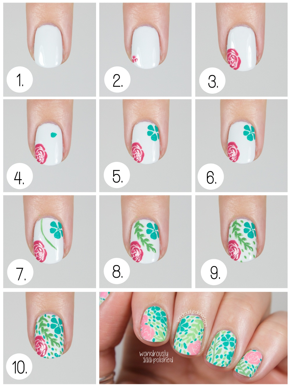 Фото схема рисунок на ногтях в домашних условиях