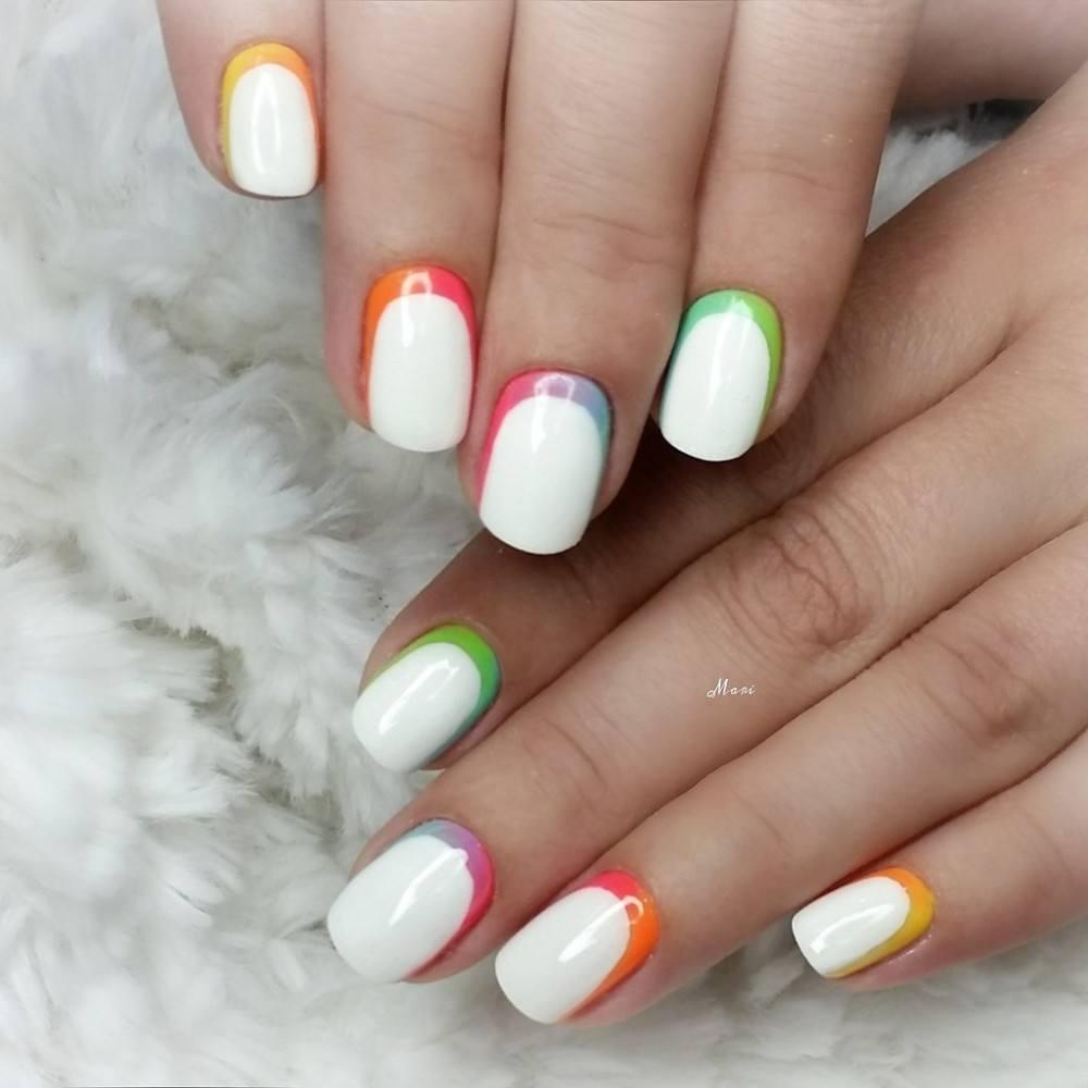 Модный маникюр 2016 на короткие ногти гель лаком фото