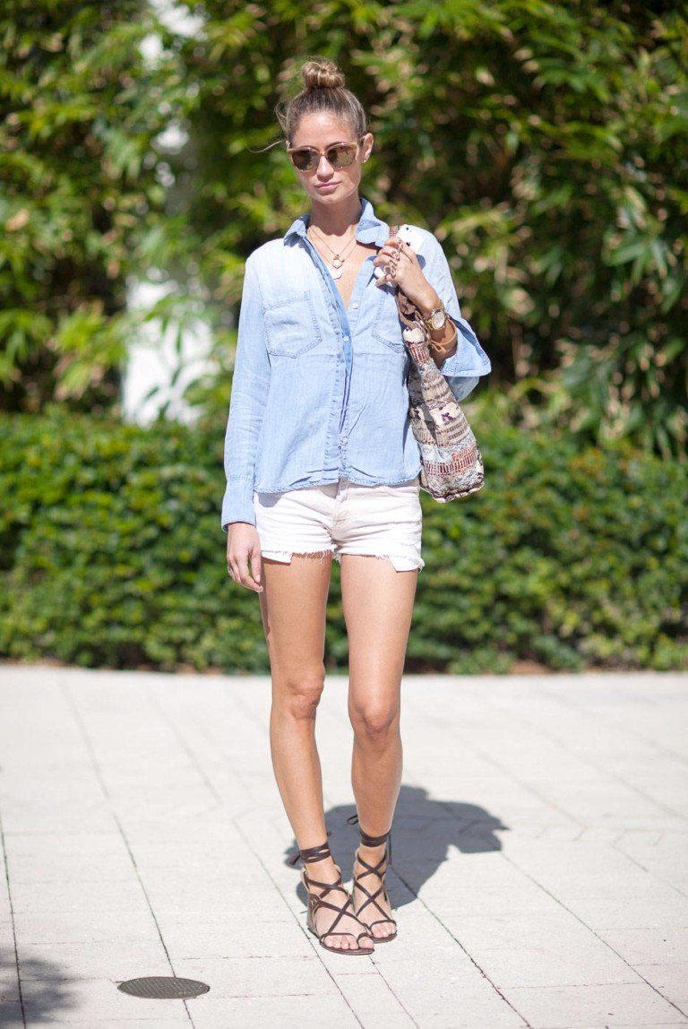 Открытые летние сапоги с чем носить