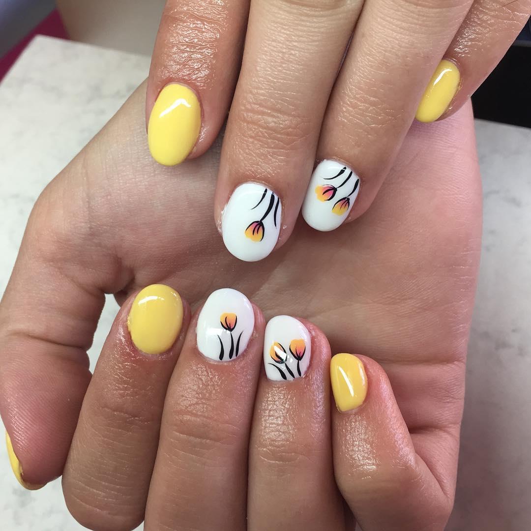 Модный маникюр весна 2018 на короткие ногти фото дизайн