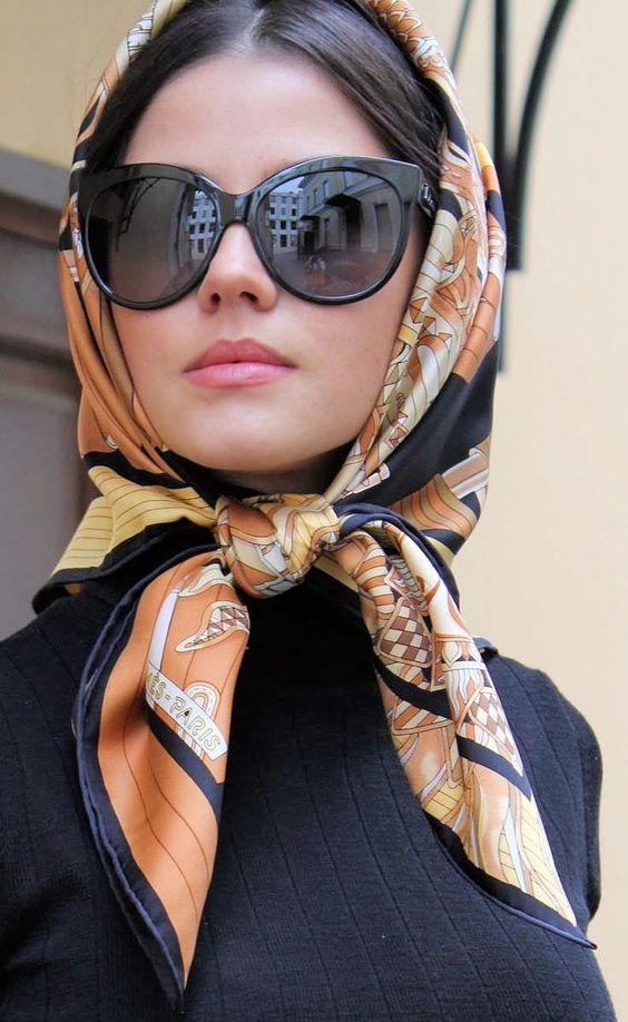 Модный платок на голову 114