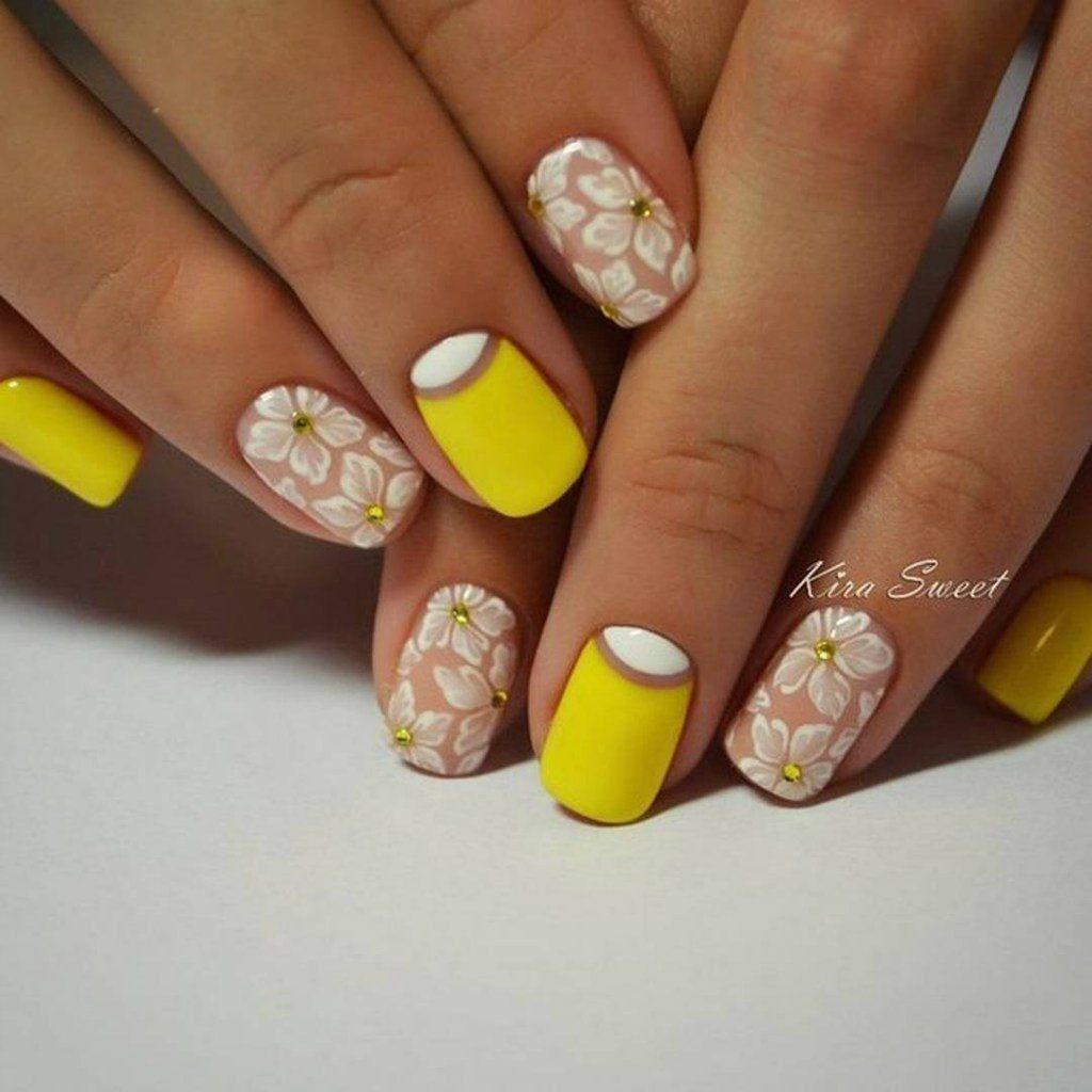 Ногти френч желтый 2018 фото новинки весна