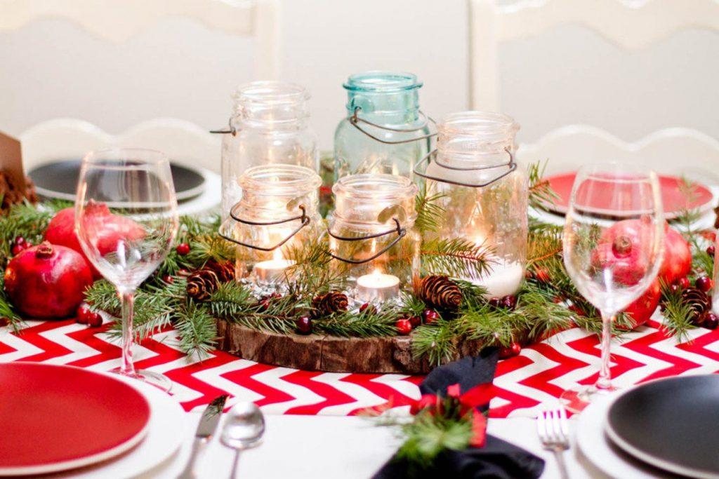 Сервировка новогоднего стола 2018: фото и оформление