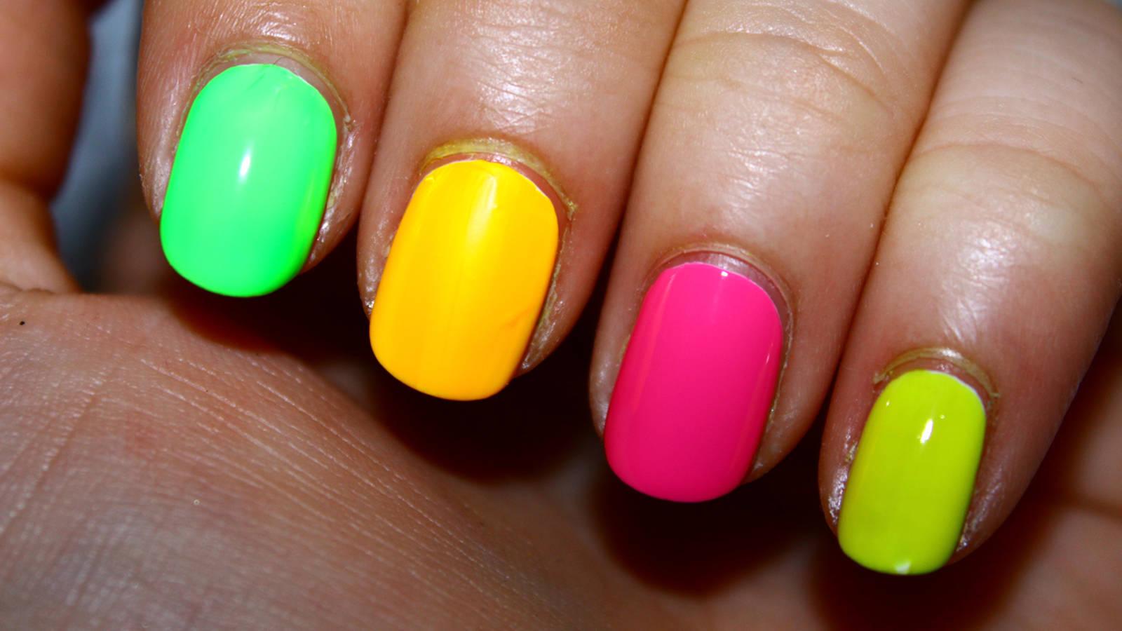 Фото ногти яркие гель лаки