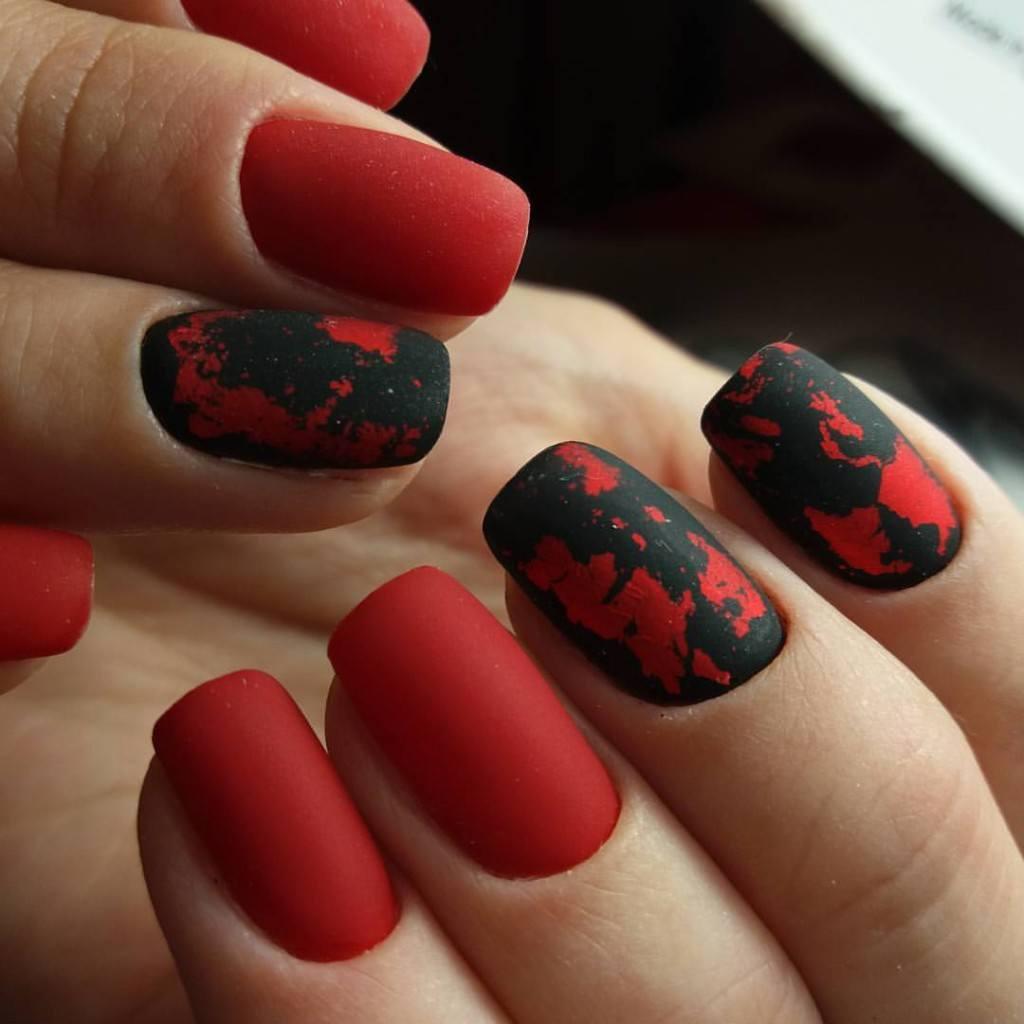 Красные ногти дизайн 2018 фото с рисунком
