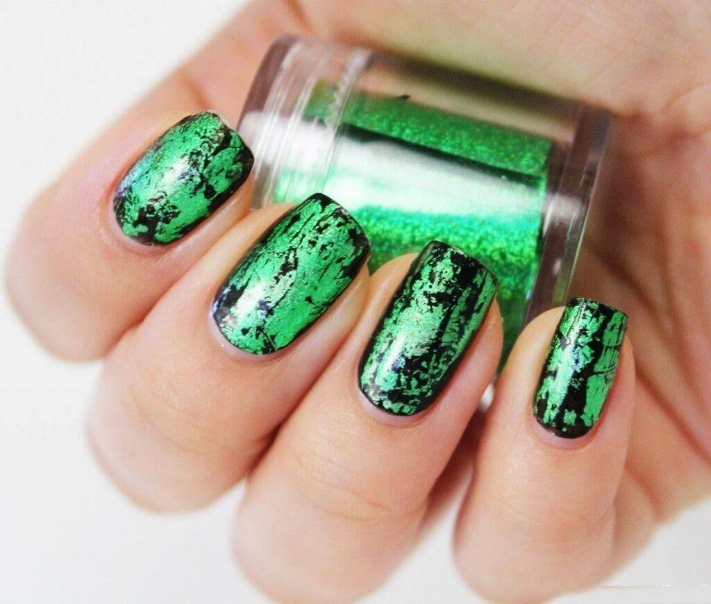 Фото ногтей с зеленым дизайном