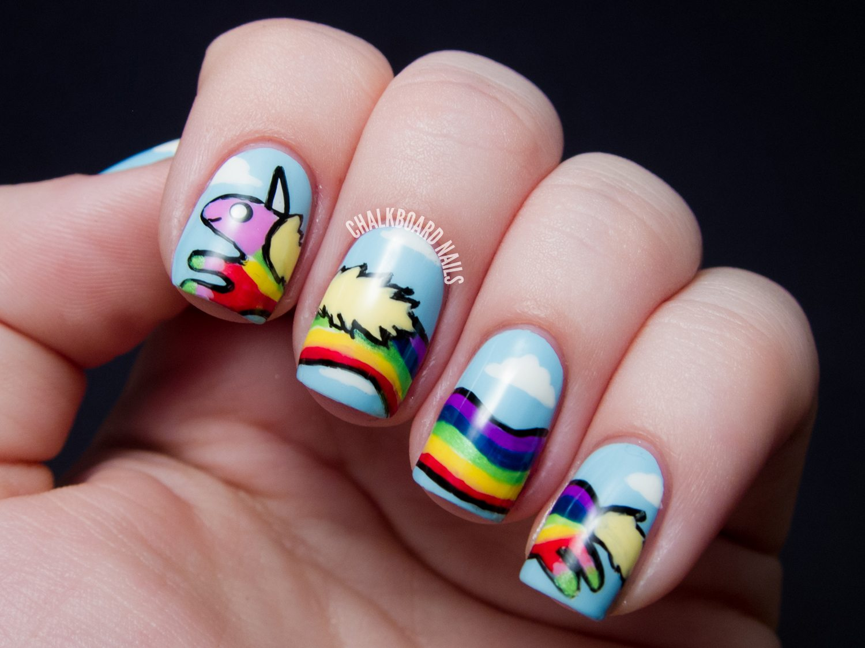 Креативные короткие ногти фото