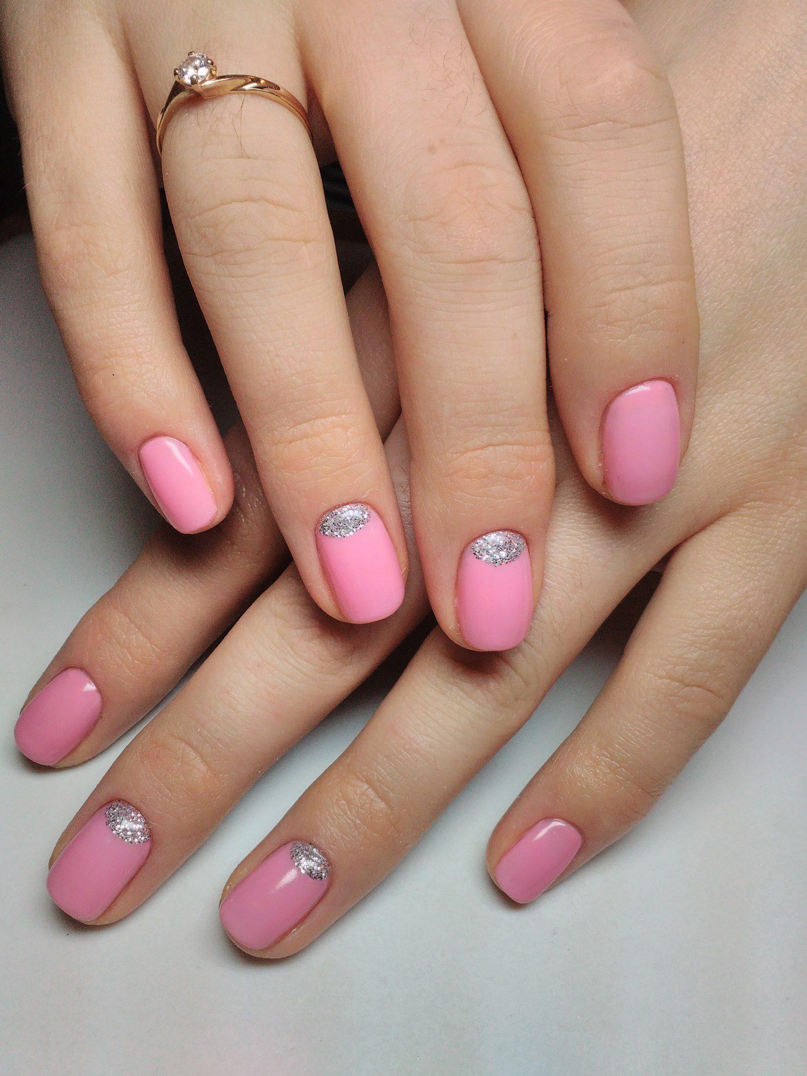 Маникюр на короткие ногти нежные цвета фото