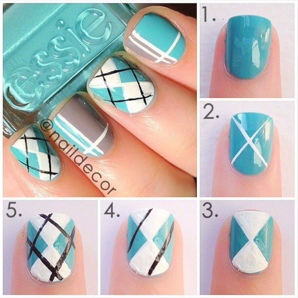 Геометрия на ногтях гель-лаком (36 фото как сделать дизайн) 22