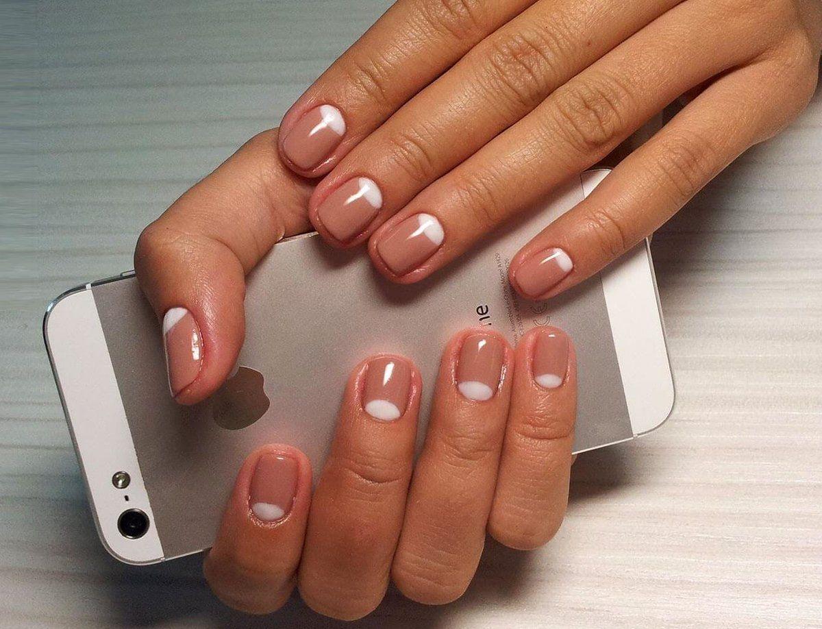Как в домашних условиях сделать френч на коротких ногтях фото