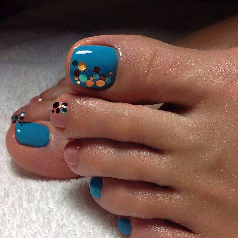 Оригинальные ногти на ногах фото