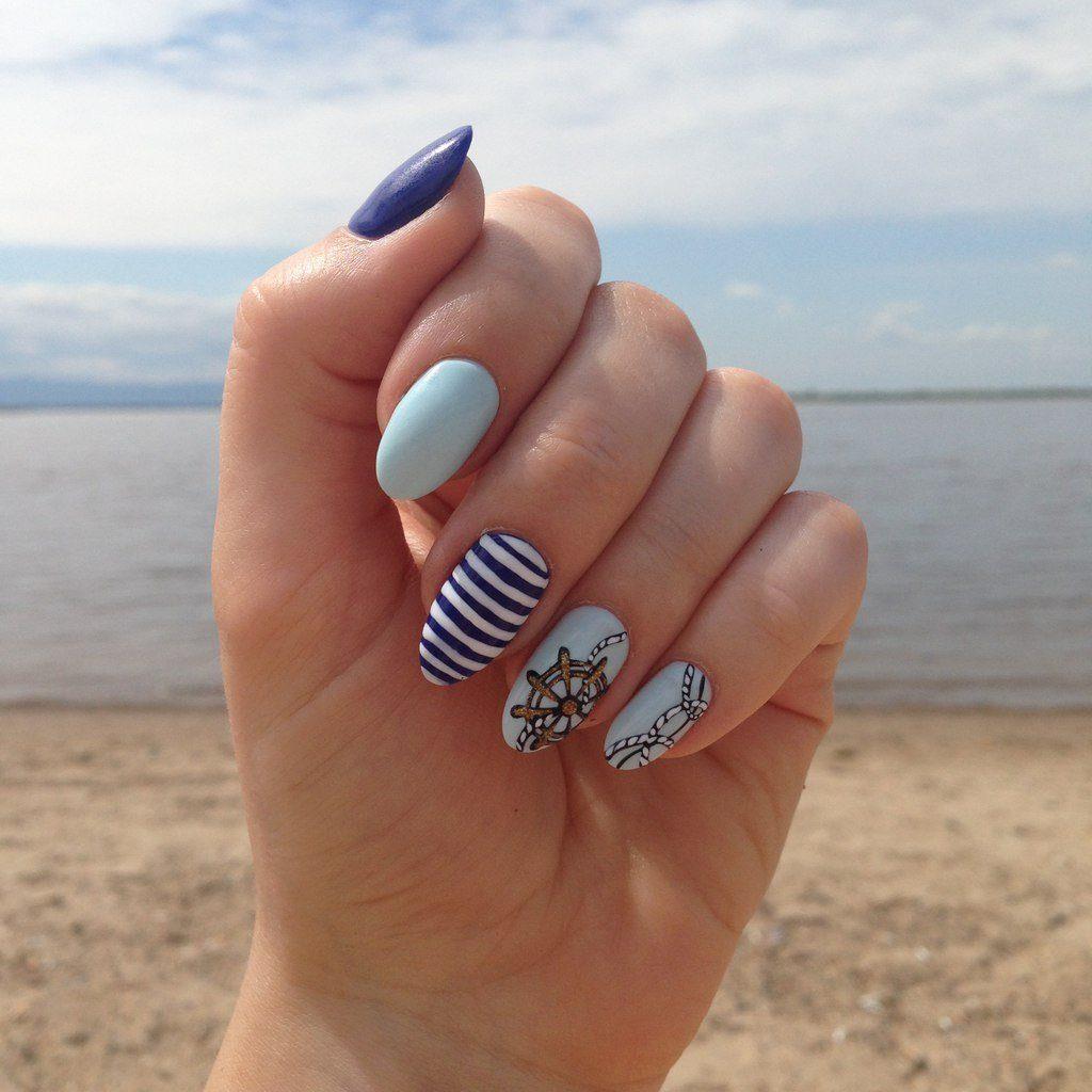 Морской дизайн ногтей 16