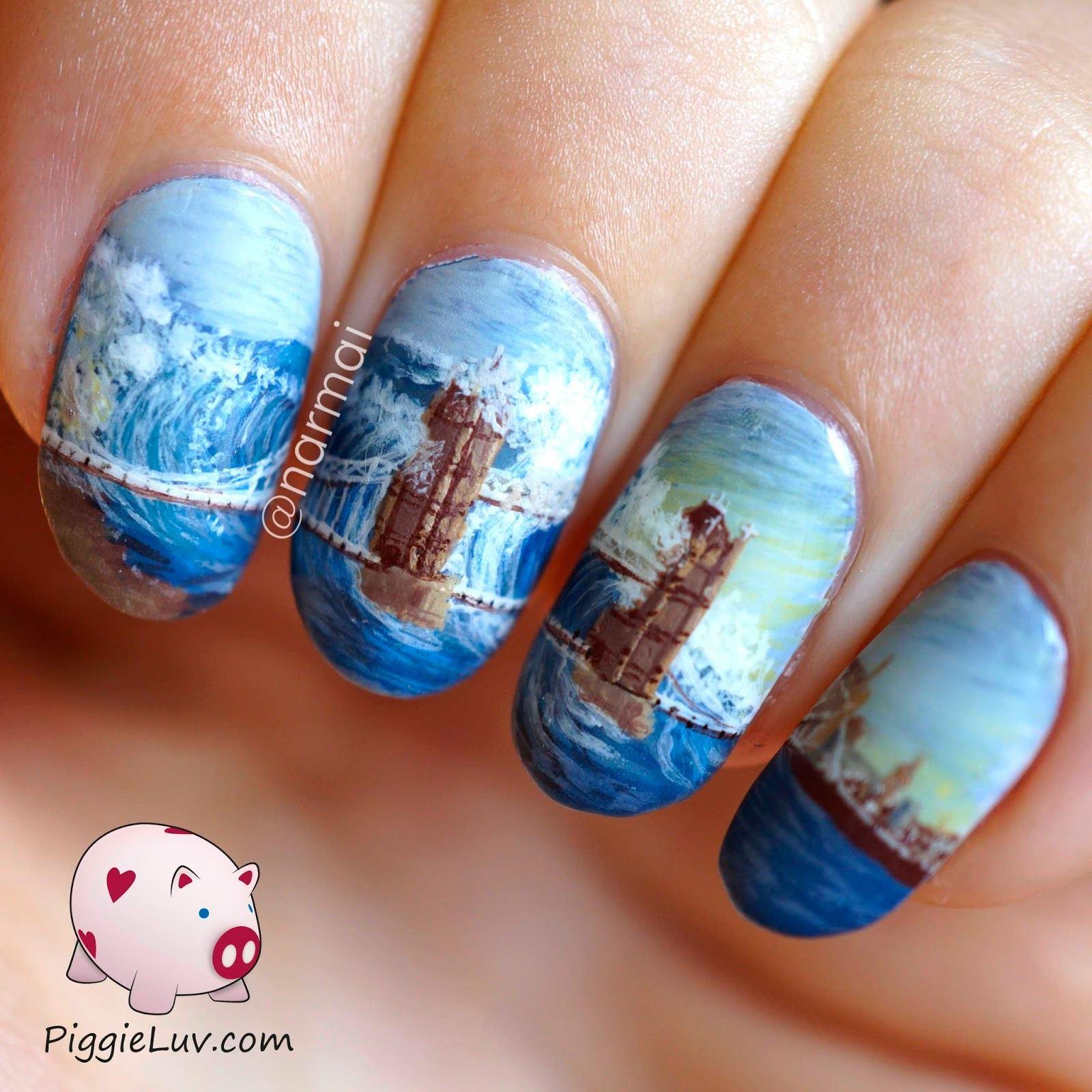 Морской мотив на ногтях фото