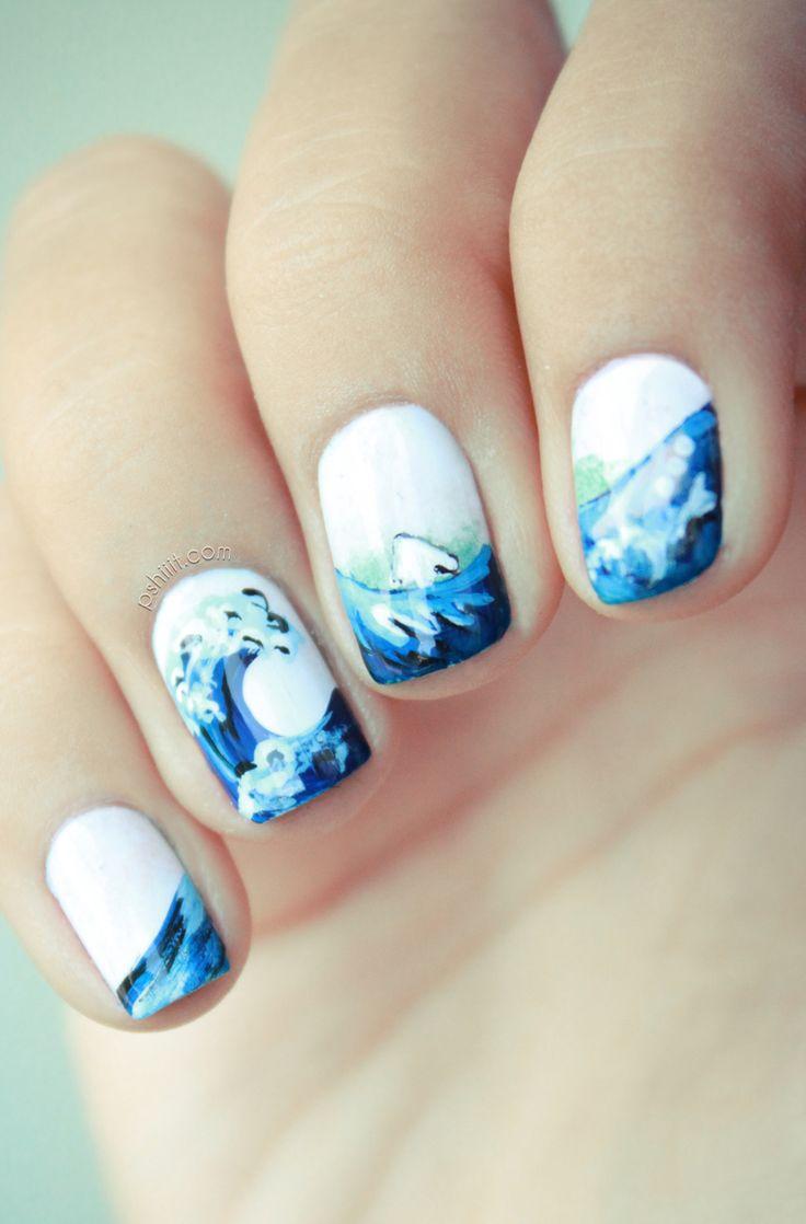 Абстракция на коротких ногтях фото