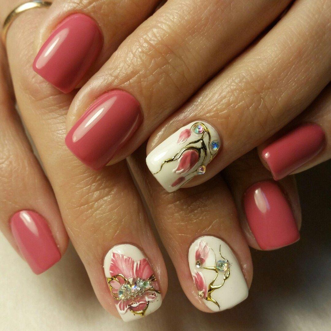 Нарощенные ногти фото весна френч