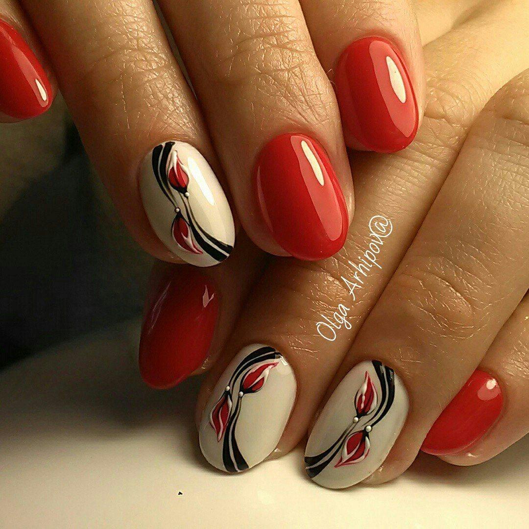 Фото ногтей с шеллаком дизайн 2018