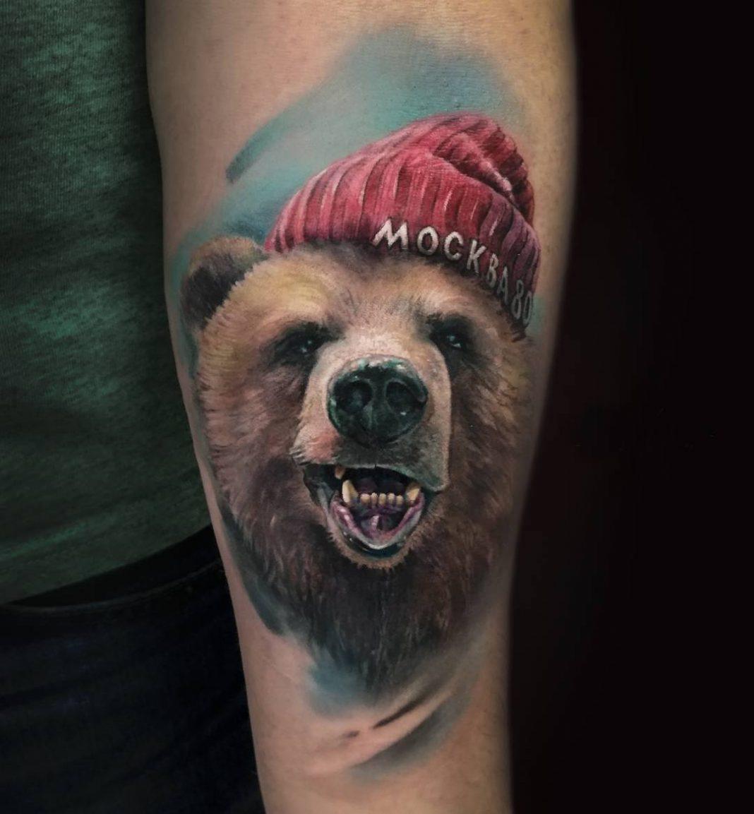Тату медведей 110 лучших фото татуировок 2018 года