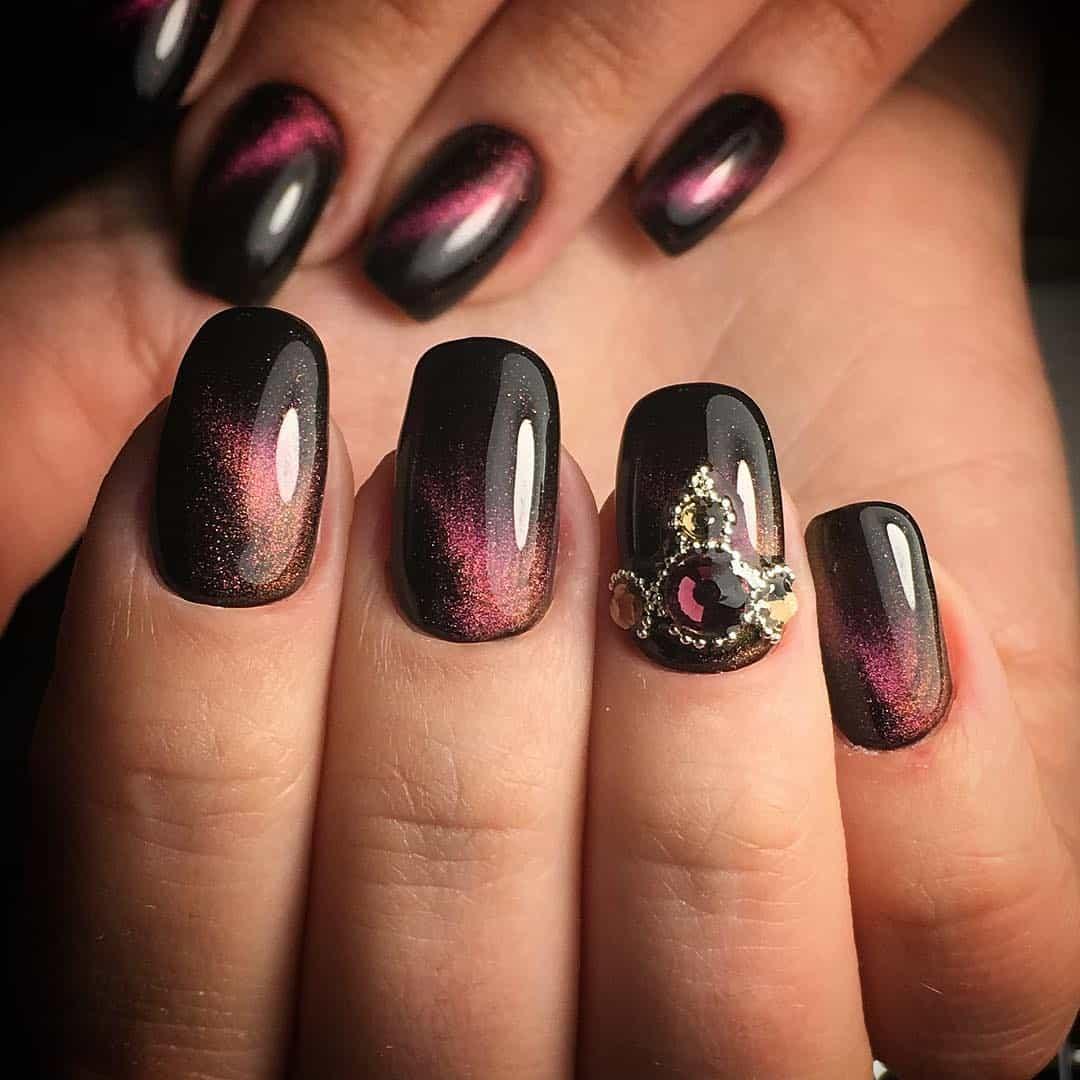 Дизайн ногтей с магнитом фото