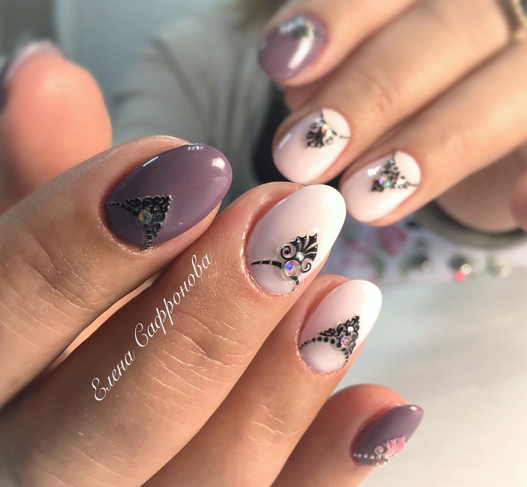 Шеллак на ногтях фото весна 2018