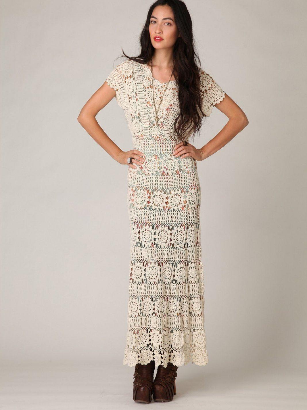 Фото идеи вязаного платья