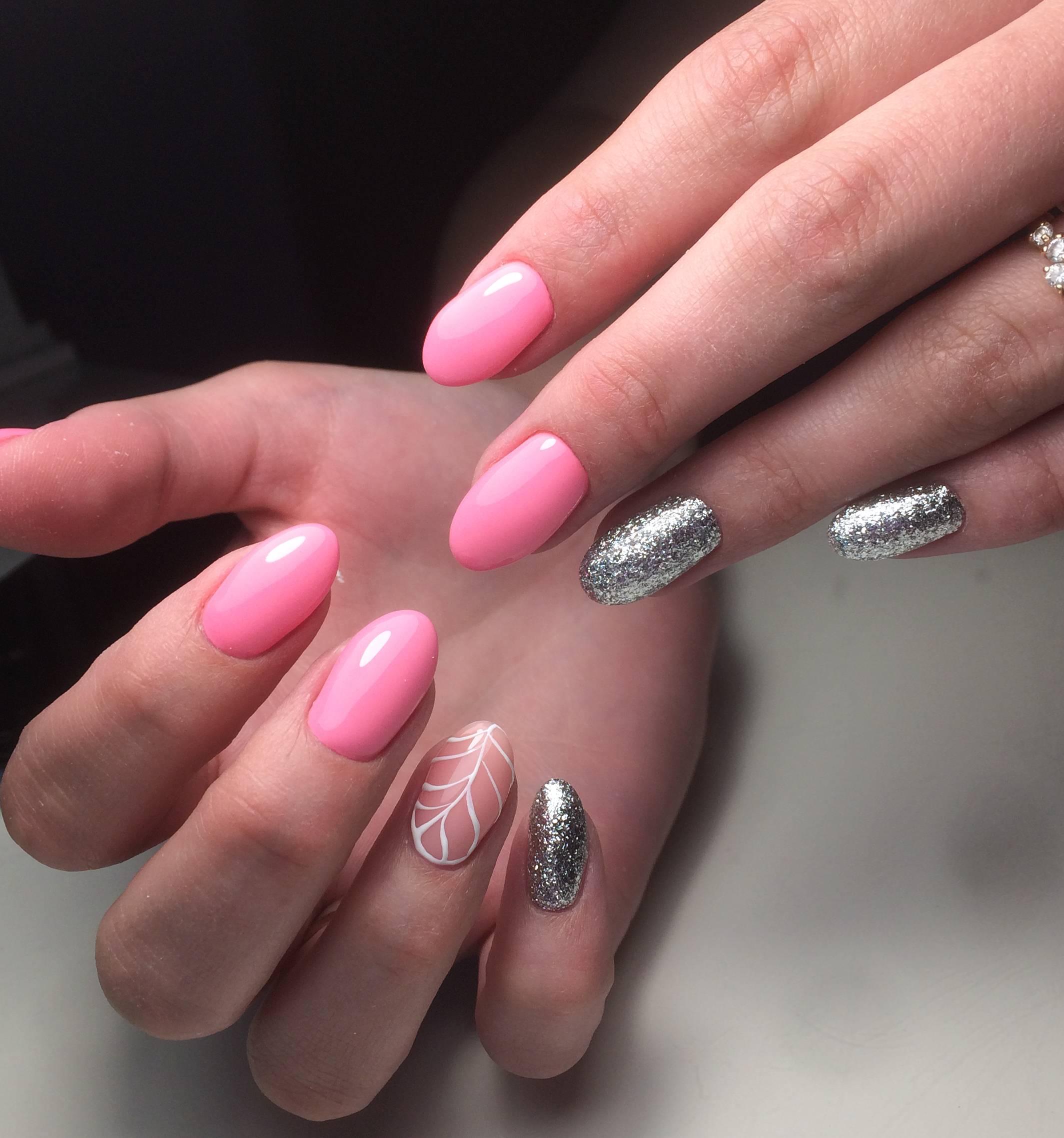 Шеллак Розовый С Серебром Фото