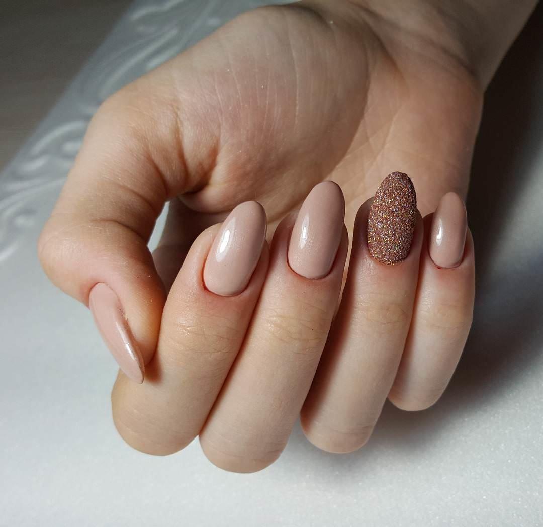 Ногти Цвет Нюд Шеллак Дизайн