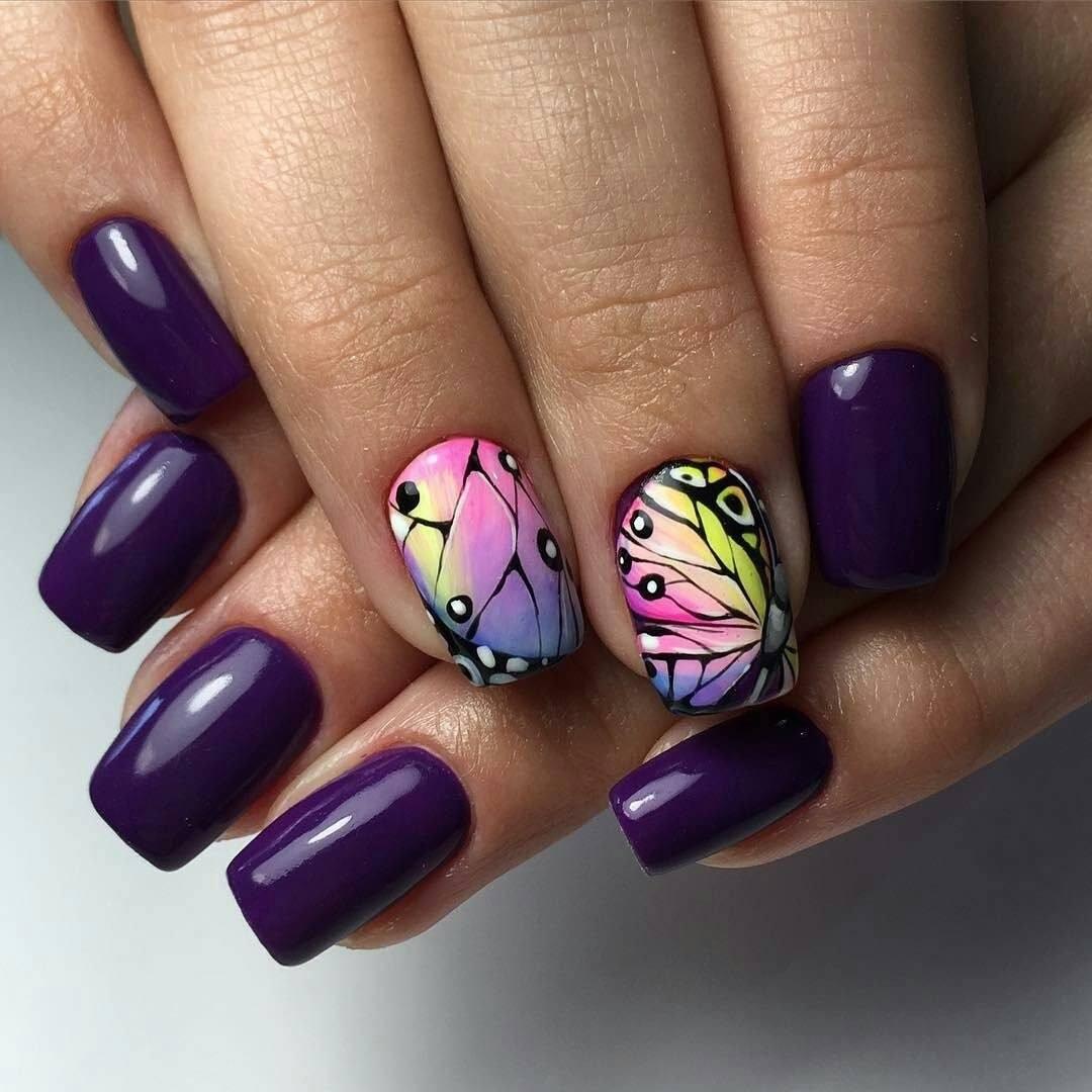 Ногти Гель Лак С Золотом Фото